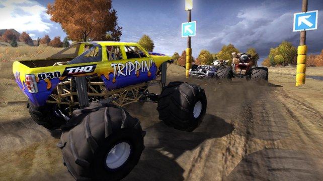 Mit den gigantischen Monster Trucks muss man sich keine Gedanken um Bodenwellen machen