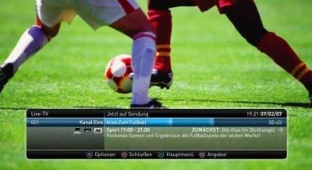 Die schnellen Bewegungen beim Fußball machen DVB-T zu schaffen.