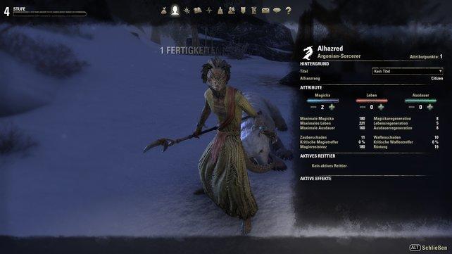 """Die Charakterverwaltung verbindet Elemente von Online-Rollenspielen mit der gewohnten Vorgehensweise der """"Elder Scrolls""""-Reihe."""
