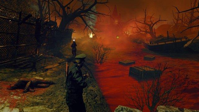 Ein Fluss aus Blut führt euch in die Welt von Zombie Army 2.