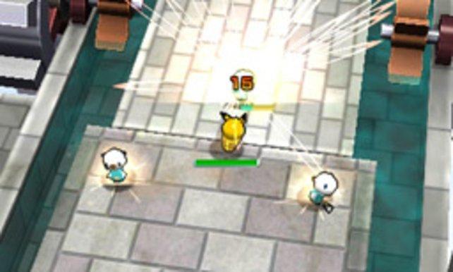 Pikachu setzt die Ottaros unter Strom.