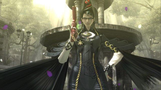 Sexy Bayonetta weiß mit Waffen umzugehen.