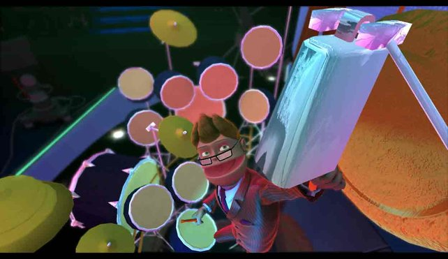 Buzz versucht durch große Showeinlagen die Stimmung hoch zu halten.