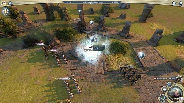 Age of Wonders 3 glänzt mit schönen Effekten, wie beispielsweise diesem Frostzauber.