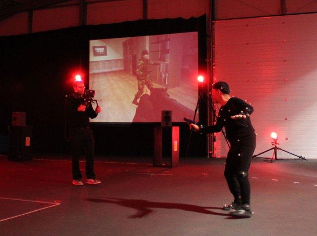 Beeindruckend: Beim Motion-Capturing verschmelzen reale und virtuelle Bewegung.