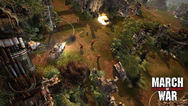 Ein weiteres Betriebsmodell hält seit wenigen Jahren Einzug auf Steam: Die sogenannten kostenlosen Mehrspieler-Spiele – wie z.B. auch March of War – mit einem angebundenem virtuellen Ladensystem.