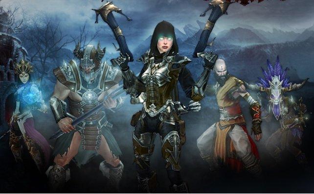 Bitte lächeln (von links): Magierin, Babar, Dämonenjägerin, Mönch und Hexendoktor.