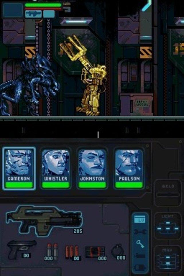 Wie im Film: Im Laderoboter legt ihr euch mit der Alien-Königin an.
