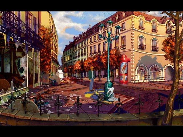 Bombenexplosion in Paris. Hier beginnt das Abenteuer (Baphomets Fluch).