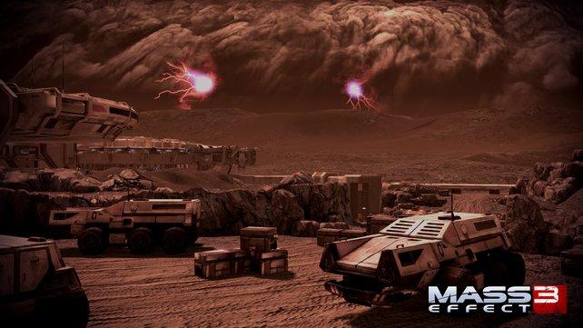 Ein Sandsturm erschwert die Suche auf dem Mars.