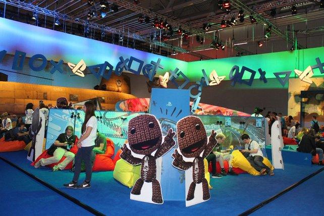 Sackboy begrüßt euch zu einem Vita-Probespiel bei Sony.
