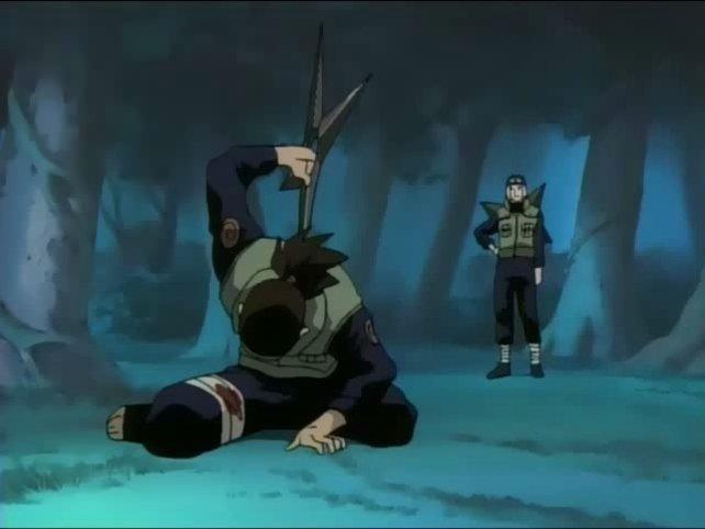 Der riesige Shuriken und das Blut fielen hierzulande der Retusche zum Opfer.