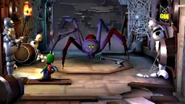 Luigi hat es mit grausen Krabbeltieren zu tun.