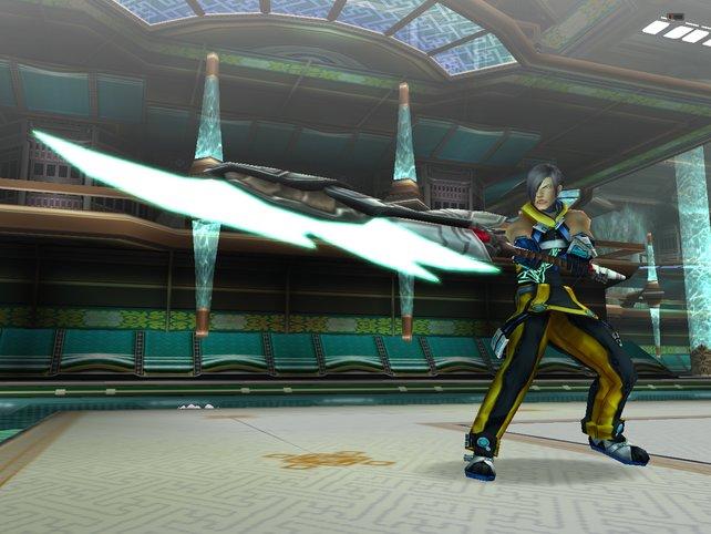 Hier seht ihr einen Charakter mit Speerwaffe in der Hand