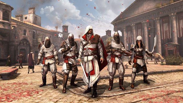Ezio und seine Bruderschaft befreien Rom von der Borgia-Familie.