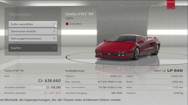 Im Wagenaufgebot finden sich auch exotische Sportwagen, hoffentlich spielt euer Geldbeutel mit.