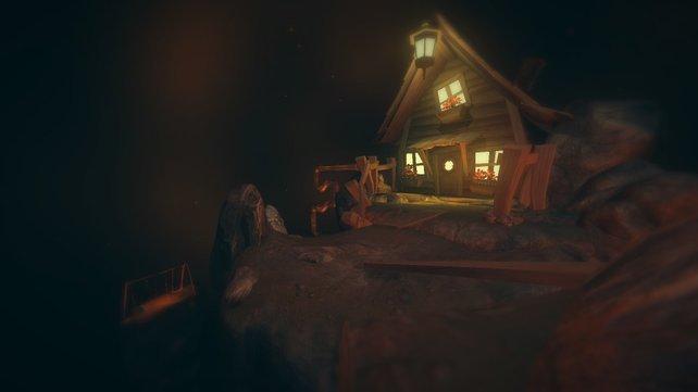 Ein ganz schön schiefes Haus.