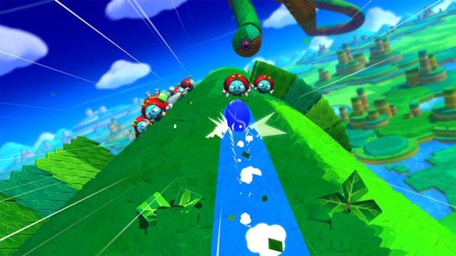 Super Sonic Galaxy? Der Igel hat sich ausgiebig beim Klempner-Kollegen Mario bedient.