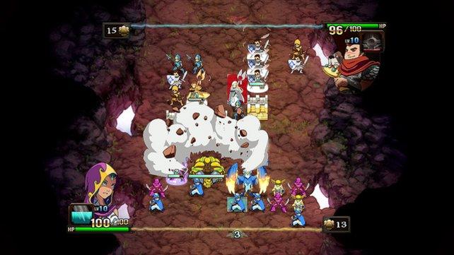 Besonders mächtige Attacken setzt das Spiel mit Effekten in Szene.
