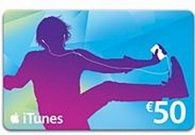 Beispiel für eine iTunes-Geschenkkarte