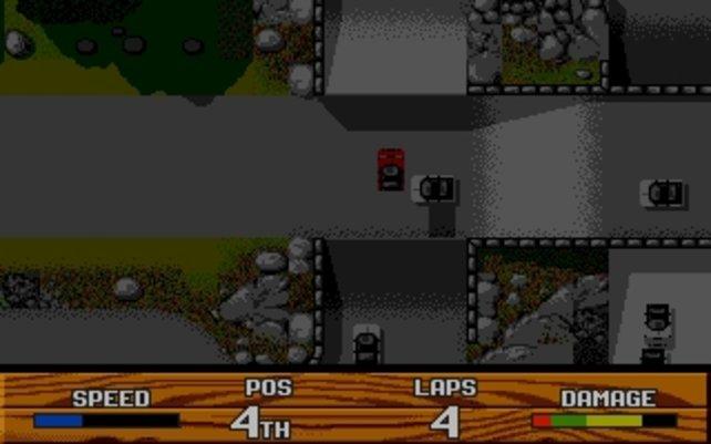 Super Cars 2: Drunter und drüber geht auch in 2D.