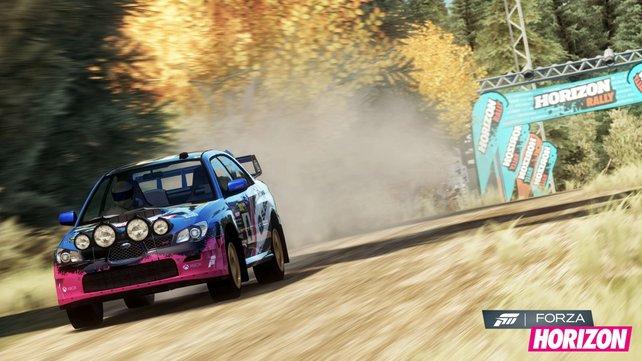 Der Kampf um die Spitzenposition ist spannend in Forza Horizon.