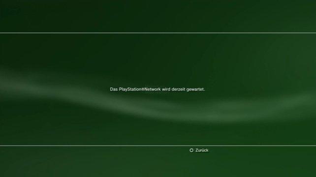 PSN-Nutzer blickten im April 2011 ratlos und enttäuscht auf diese Startseite.