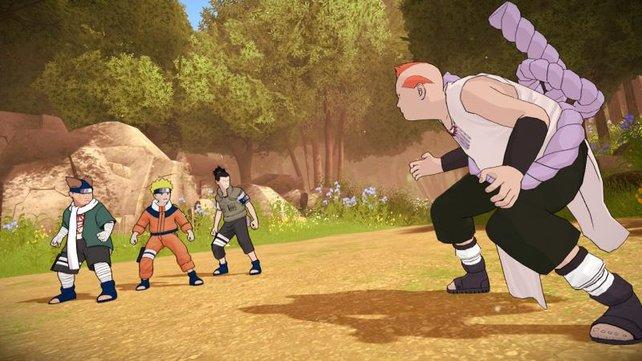 Ein dreckiger Bandit gegen drei angehende Ninjas. Der Arme!