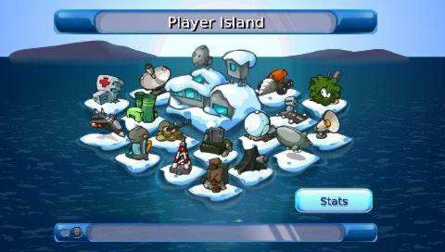 Hier hat ein Spieler schon fleißig Inseln gesammelt.