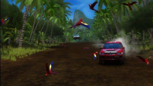Auch hochauflösend bleibt Sega Rally dem typischen Spielhallen-Stil treu.