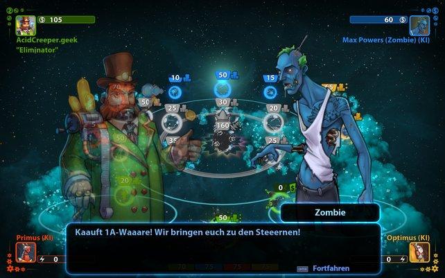 Die Zombies in Planets under Attack sind schön gezeichnet, geben aber meist nur Unsinn von sich.