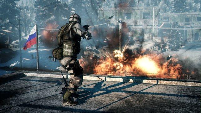 Explosiv und spaßig: Der Mehrspieler-Modus hat's in sich.