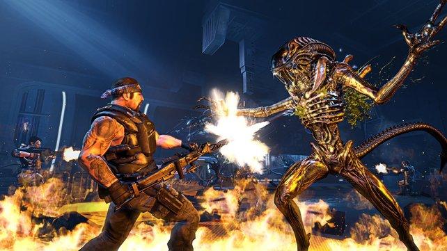 In Aliens - Colonial Marines wehrt ihr euch gegen Alien-Horden.