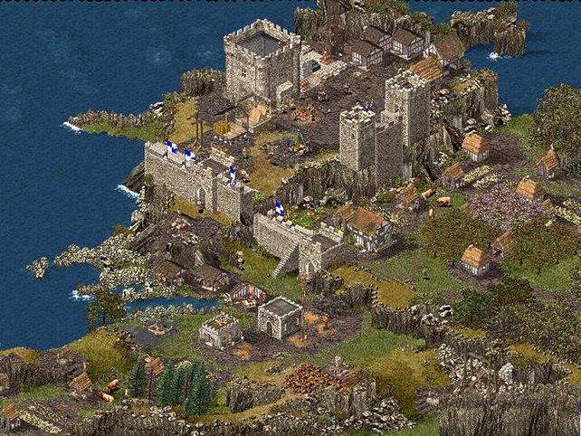 Eine kleine Burg am Anfang des Spiels