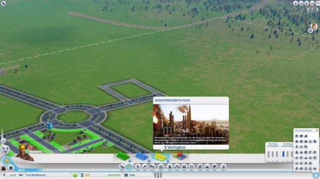 Um Arbeitsplätze zu schaffen, erstellt ihr ein Industriegebiet (Sim City).