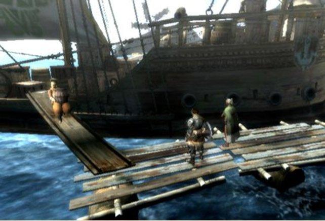 Das Schiff bringt rare Waren aus fernen Ländern.