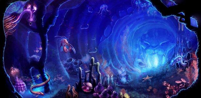 Auch unter Wasser gibt es Eingänge.
