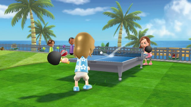 Beim Tischtennis könnt ihr den Ball treffsicher beim Gegner platzieren.