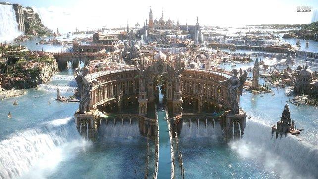 Das Königreich von Final Fantasy 15 sieht mächtig, riesig und schön zugleich aus.