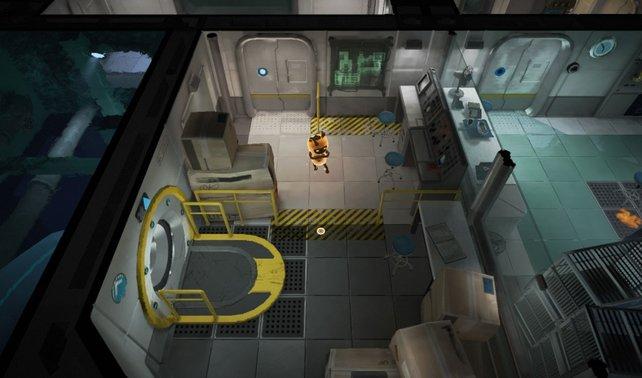 Die Kamera erinnert ein wenig ans erste Metal Gear Solid.