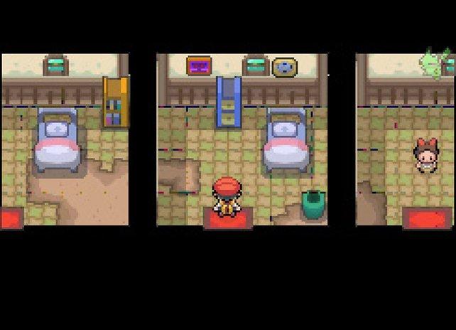 Gruselig: Ein Gemälde mit Augen (oben Mitte) und ein Geisterwesen, das verschwindet (links).