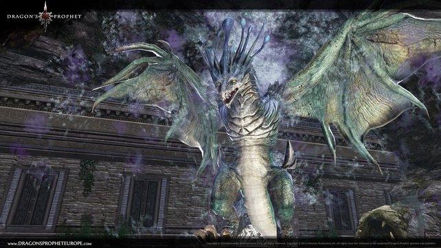 In Dragon's Prophet trefft ihr auf beeindruckende Drachen.