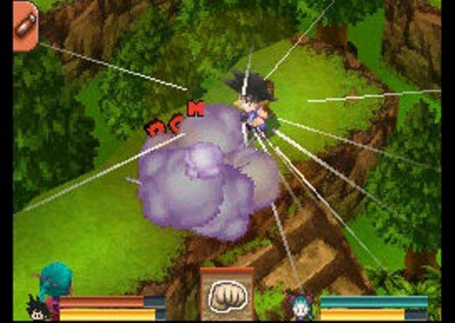 Ihr steuert Son Goku aus einer isometrischen Perspektive und bewegt ihn per Stylus, ähnlich wie Link in The Legend of Zelda - Phantom Hourglass.