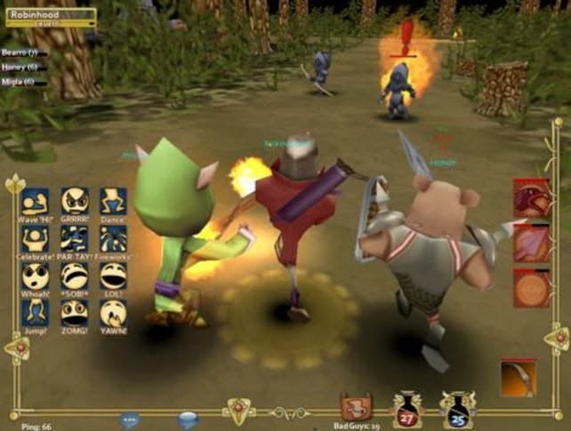Bei Pocket Legends kämpfen lustige Kreaturen online gegeneinander.