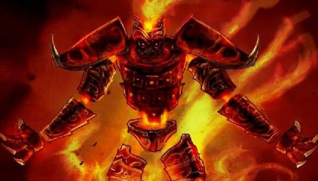 Der Feuer-Golem ist einer eurer möglichen Spielcharaktere.