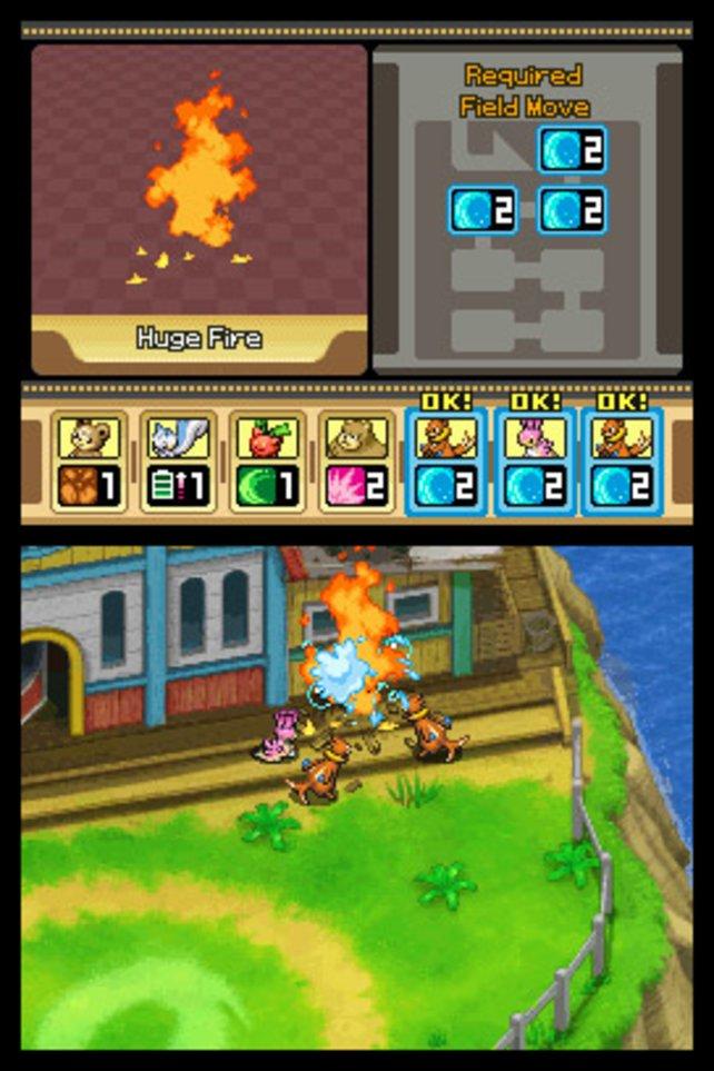 Feuerwehreinsatz: Pokémon beim Löschen.