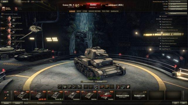 Maximale Feuerkraft! Der dicke Cruiser MK. II putzt mit seiner dicken Wumme alles weg.