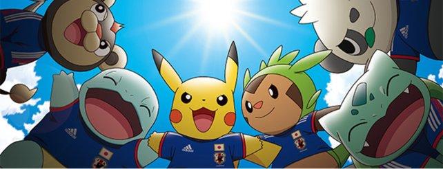 Pikachu im Trikot der japanischen Nationalelf.
