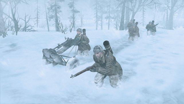 Die kalte Jahreszeit macht eurer Kriegsmaschinerie zu schaffen.