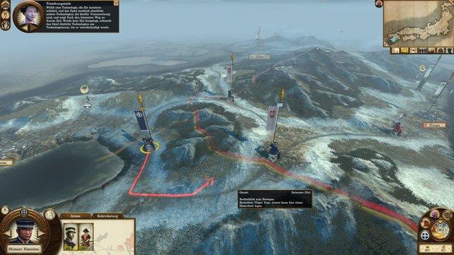Auf der strategischen Karte verwaltet ihr eure Städte und befehligt eure Truppen.